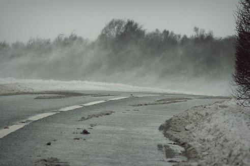 Winter Tyres - Snowy Road
