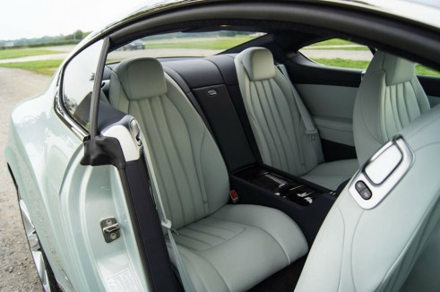 2013 Bentley Continental GT Review - Rear Seats - carwitter