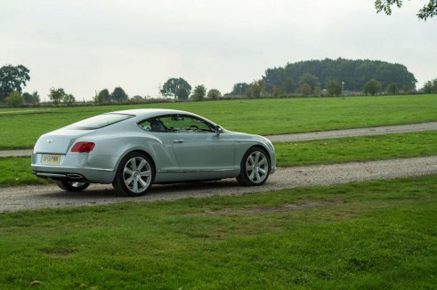 2013 Bentley Continental GT Review - Rear Side Angle - carwitter