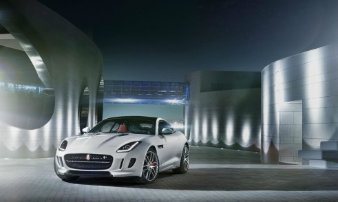 Jaguar F-Type Coupe Front Angle Scenery - carwitter
