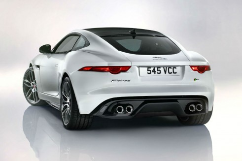 Jaguar F-Type Coupe Rear Angle - carwitter