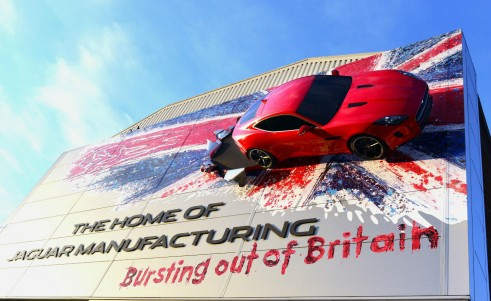 Jaguar F-Type Coupe Side Of Castle Bromwich Factory - carwitter