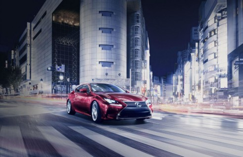 Lexus RC coupe Front Angle - carwitter