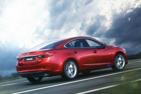 Mazda 6 Saloon Rear Angle - carwitter