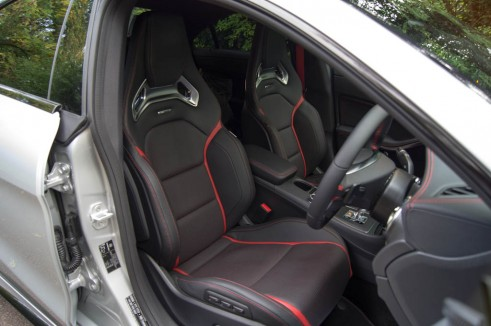 Mercedes Benz CLA45 AMG Review - Front Seats - carwitter