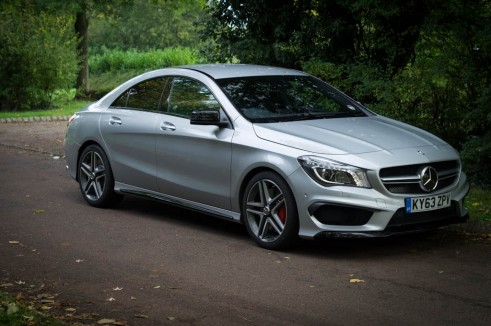 Mercedes Benz CLA45 AMG Review - Front Side - carwitter
