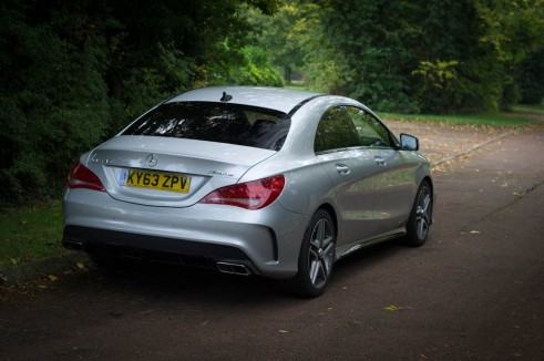 Mercedes Benz CLA45 AMG Review - Rear Side - carwitter