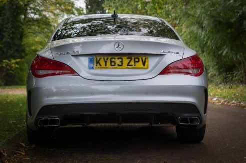 Mercedes Benz CLA45 AMG Review - Rear - carwitter