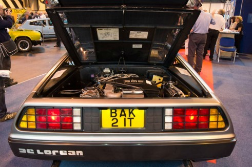 NEC Classic Car Show 2013 Review - Delorean Rear Engine - carwitter