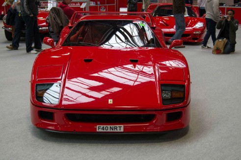 NEC Classic Car Show 2013 Review - Ferrari F50 Front - carwitter