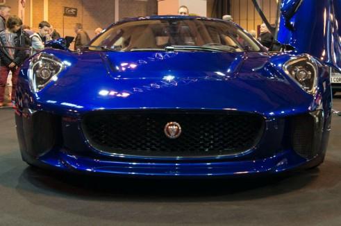NEC Classic Car Show 2013 Review - Jaguar CX-75 Concept Front Close - carwitter