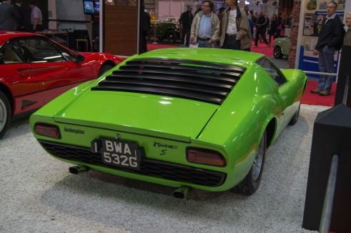 NEC Classic Car Show 2013 Review - Lamborghini Miura Rear - carwitter
