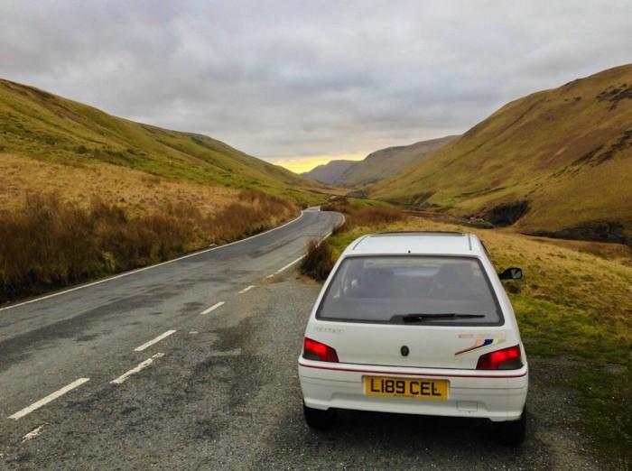 Peugeot 106 Rallye S1 Rear Road Scenic - carwitter