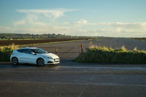 2013 Honda CRZ Review - Front Angle Scene Far - carwitter