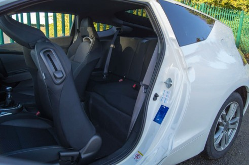 2013 Honda CRZ Review - Rear Seats - carwitter