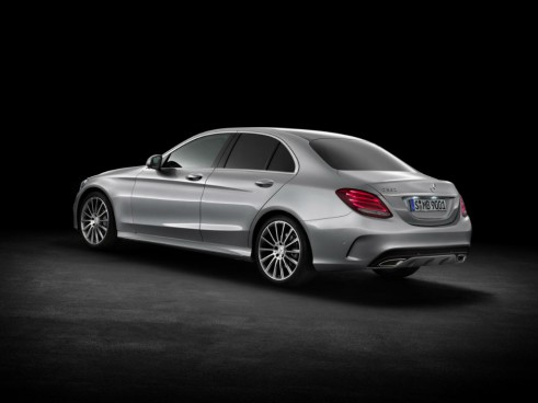 2014 Mercedes Benz C-Class Rear Angle - carwitter