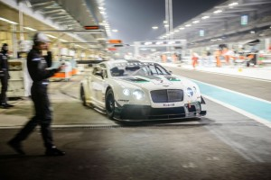Bentley Continental GT3 leaving pit Gulf 12 Hour 2013 carwitter 300x200 - Bentley Continental GT3 gets 4th place at first outing! - Bentley Continental GT3 gets 4th place at first outing!
