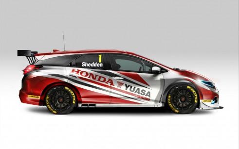 Honda Yuasa Racing 2014 Honda Tourer BTCC Car - carwitter-w1500