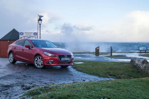 Mazda 3 Review - Front Angle Saloon - carwitter