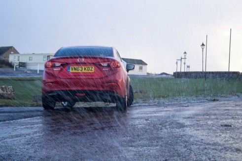 Mazda 3 Review - Rear Saloon - carwitter