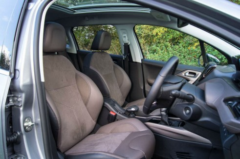 Peugeot 2008 Review Front Seats carwitter 491x326 - Peugeot 2008 Review – Practical mini crossover - Peugeot 2008 Review – Practical mini crossover