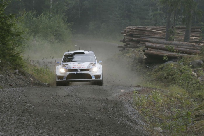 VW Polo WRC Rally Wales 2013 Action - carwitter