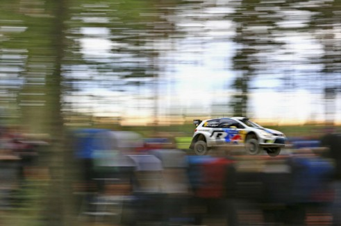 VW Polo WRC Rally Wales 2013 Jump Forest - carwitter
