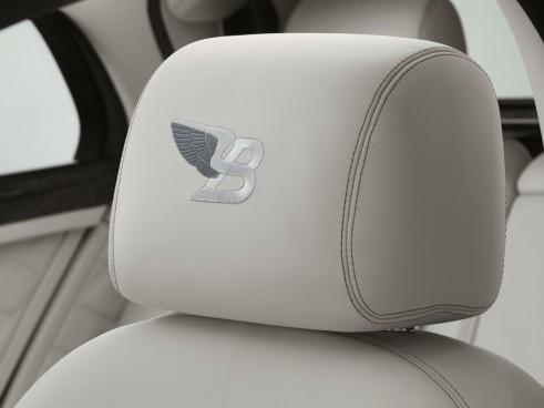 Bentley Birkin Mulsanne Ghost White Front Headrest - carwitter