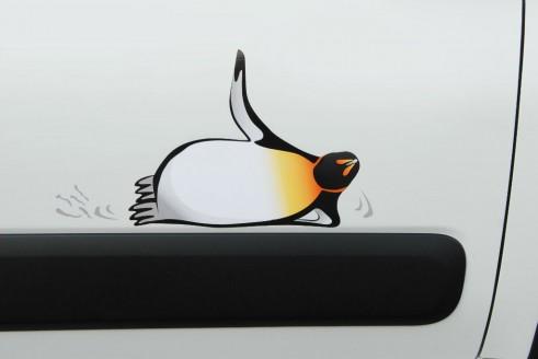 Fiat Panda 4x4 Antarctica Penguin Badge - carwitter