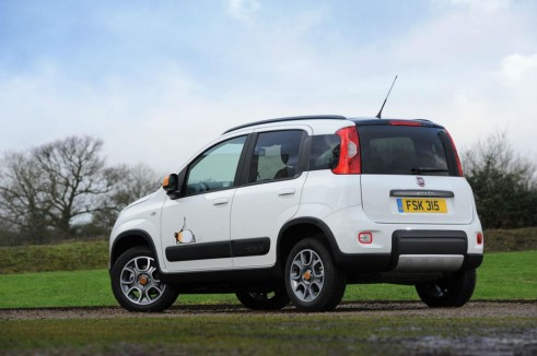 Fiat Panda 4x4 Antarctica Rear Angle - carwitter