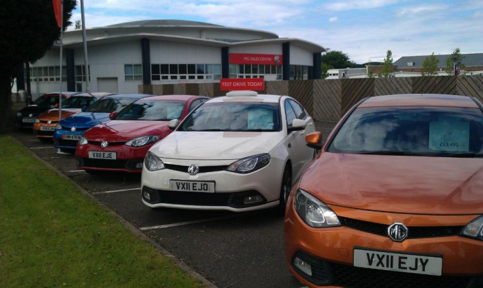 MG Used Car Forecourt carwitter 700x418 - How to Become a Car Trader in the UK - How to Become a Car Trader in the UK