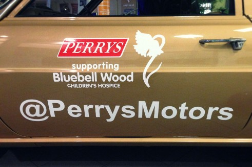 Perrys Chairty Auction Vauxhall Viva - Branding - carwitter