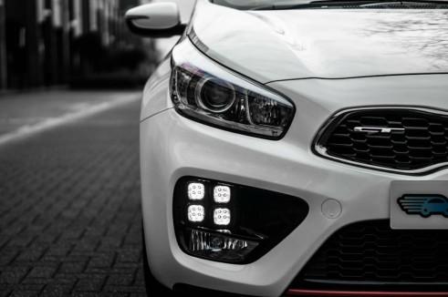 2014 Kia Pro Ceed GT Review Headlight Detail carwitter 491x326 - Kia Pro Ceed GT Review – The newbie - Kia Pro Ceed GT Review – The newbie