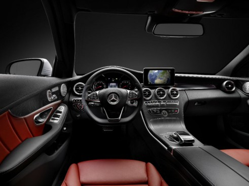 2014 Mercedes C Class dashboard carwitter 491x368 - 2014 Mercedes C-Class saloon price & specs - 2014 Mercedes C-Class saloon price & specs