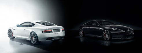 Aston Martin DB9 Carbon Black and White - carwitter