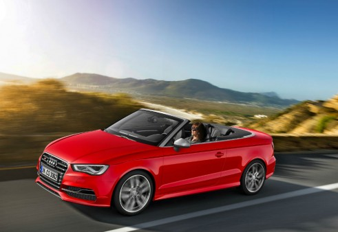 Audi S3 cabrio side carwitter 491x338 - 2014 Audi S3 cabriolet unveiled - 2014 Audi S3 cabriolet unveiled