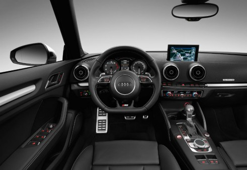 Audi S3 dash carwitter 491x339 - 2014 Audi S3 cabriolet unveiled - 2014 Audi S3 cabriolet unveiled