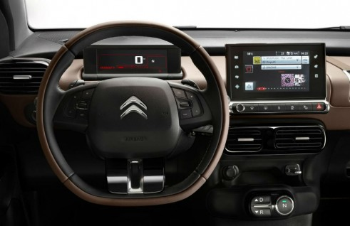 Citroen Cactus Dashboard Steering Wheel carwitter 491x318 - Citroen C4 Cactus concept to reality! - Citroen C4 Cactus concept to reality!