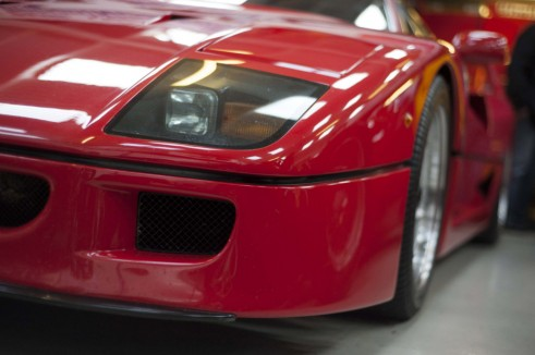 Ferrari F40 front Carwitter w1024 491x326 - A visit to Nick Mason's car collection - A visit to Nick Mason's car collection