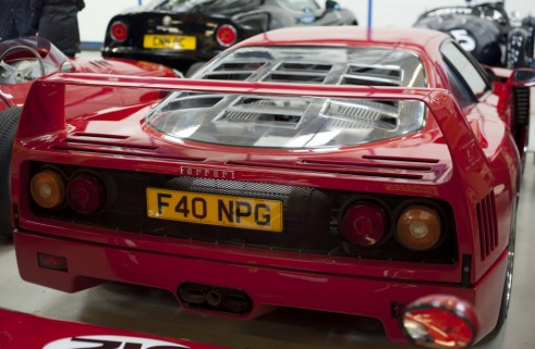 Ferrari F40 rear Carwitter w1024 491x321 - A visit to Nick Mason's car collection - A visit to Nick Mason's car collection