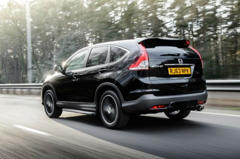 Honda CRV Black rear - carwitter