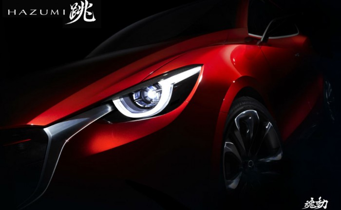 Mazda 2 Hazumi Concept Geneva 2014 carwitter 700x432 - New 2014 Mazda 2 heading for Geneva? - New 2014 Mazda 2 heading for Geneva?