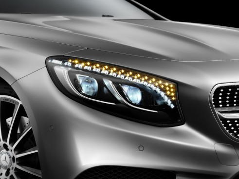 Mercedes S-Class Coupe lights - carwitter