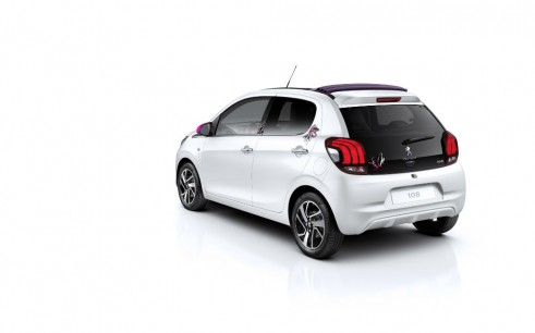 Peugeot 108 4 Door - Rear Angle - carwitter