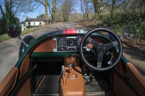 2014 Morgan 3 Wheeler Review - Dashboard Close - carwitter