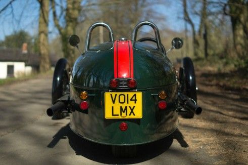 2014 Morgan 3 Wheeler Review - Rear - carwitter