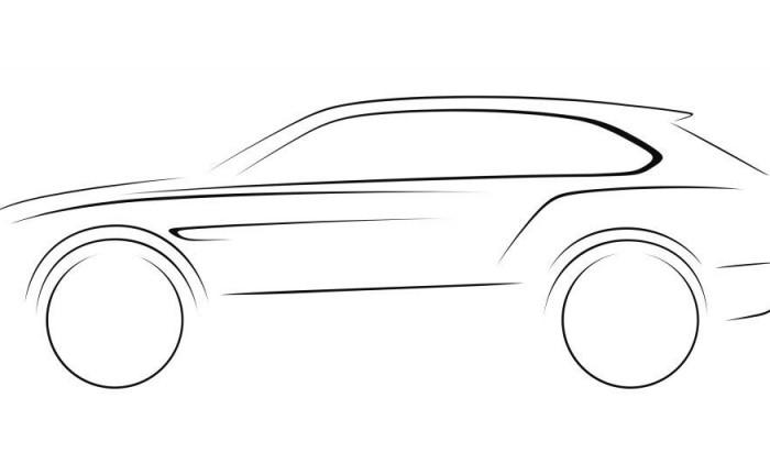 2016 Bentley SUV Design Sketch carwitter 700x432 - Bentley SUV to be with us by 2015! - Bentley SUV to be with us by 2015!