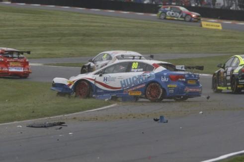 BTCC 2014 - Brands Hatch Indy - Ingram Crash - carwitter
