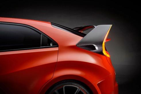 Honda Civic Type R Concept Rear Spoiler carwitter 491x327 - 2016 Honda Civic Type R Concept storms Geneva 2014 - 2016 Honda Civic Type R Concept storms Geneva 2014