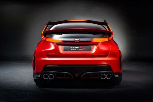 Honda Civic Type R Concept Rear carwitter 491x327 - 2016 Honda Civic Type R Concept storms Geneva 2014 - 2016 Honda Civic Type R Concept storms Geneva 2014